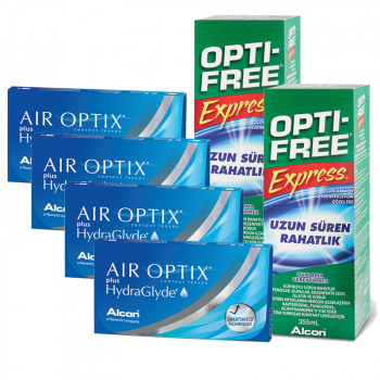 Air Optix Plus HydraGlyde Avantajlı Set