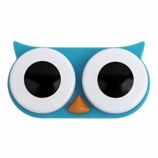 Owl Contact Lens Case (Blue)