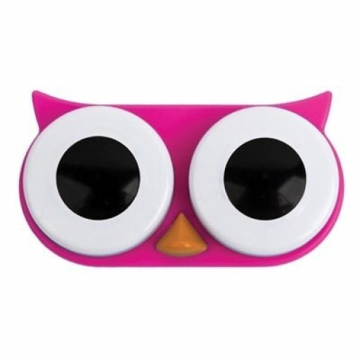 Owl Contact Lens Case (Pink)