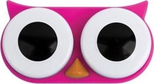 Lens Saklama Kabı Pembe Baykuş