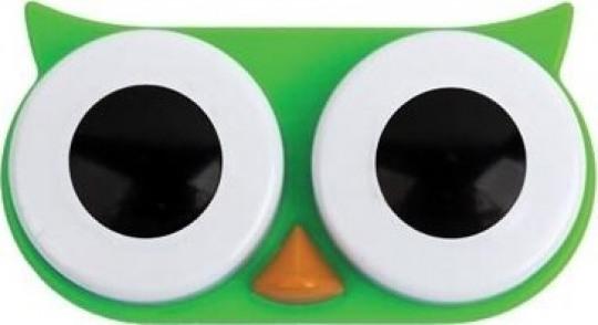 Lens Saklama Kabı Yeşil Baykuş