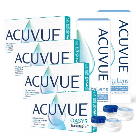 Acuvue OASYS with Transitions Avantajlı Set