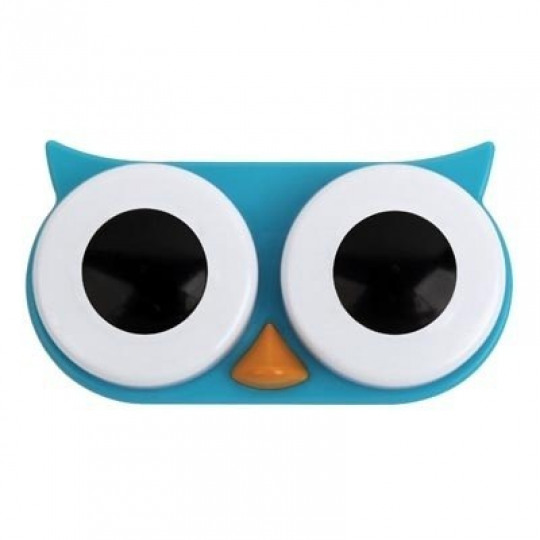 Owl Contact Lens Case (Blue)