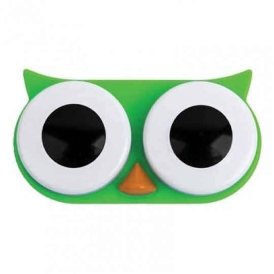 Owl Contact Lens Case (Green)